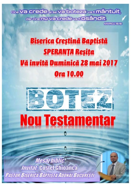 ANUNT BOTEZ 2017 SPERANTA RESITA
